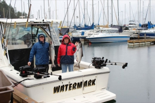 Watermark Salmon Fishing Boat with happy guests