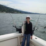 Large pink salmon caught by our charter customer.