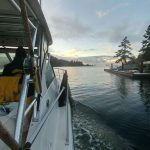 View from the Watermark Salmon Fishing Charter - Jan 2017